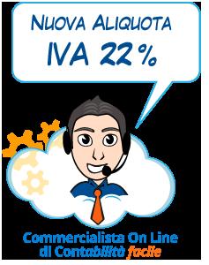 Nuova Aliquota IVA 22%