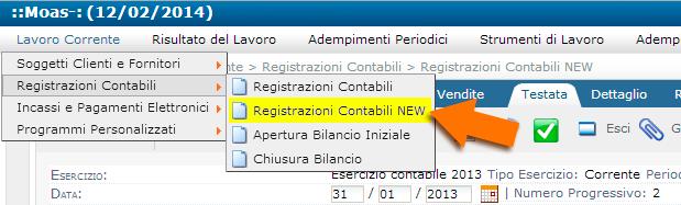 Contabilità facile online: registrazioni contabili, nuovo programma.