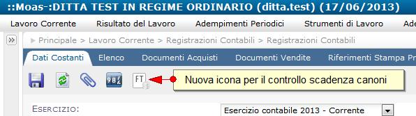 """Aggiornamento gestione """"addebito canoni"""" del servizio Contabilità facile online"""
