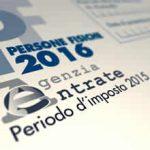 Foto del modello UNICO 2016 - periodo d'imposta 2015