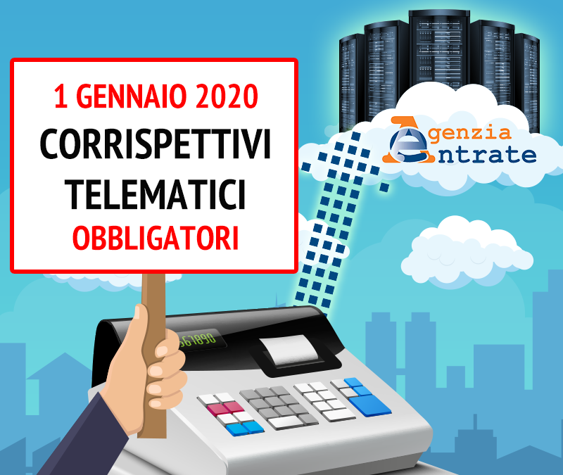 Corrispettivi telematici OBBLIGATORI dal 01-01-2020