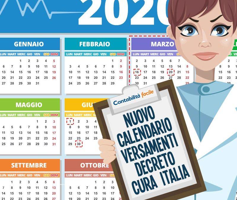Nuovo calendario dei VERSAMENTI stabiliti dal decreto CURA ITALIA