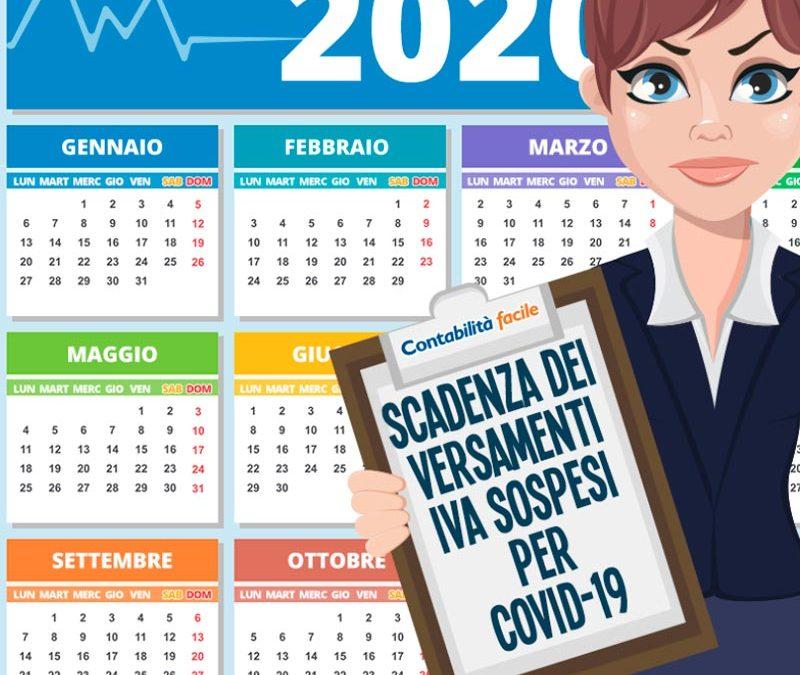 SCADENZA DEI VERSAMENTI IVA SOSPESI PER COVID-19