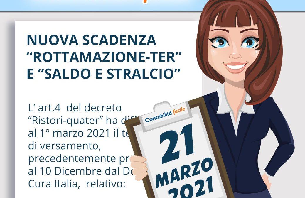 """NUOVA SCADENZA """"ROTTAMAZIONE-TER"""" E """"SALDO E STRALCIO"""""""